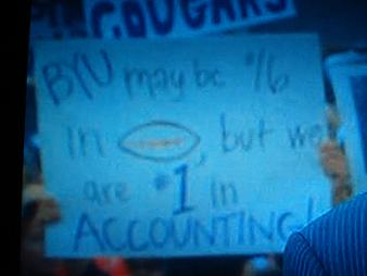 BYU may be #16 in football, but we are #1 in Accounting!