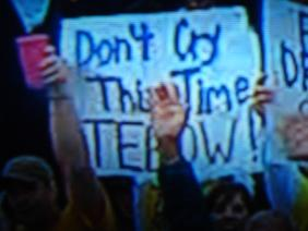 """Don't Cry This Time TEBOW!"""