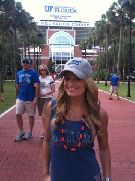 Jenn outside The Swamp
