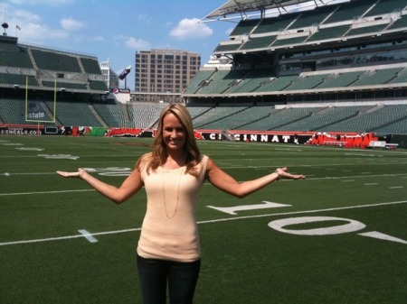 Jenn Brown says Who Dey to the That Fan readers...