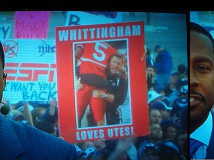 Whittingham Loves Utes! (with questionable grabbing)